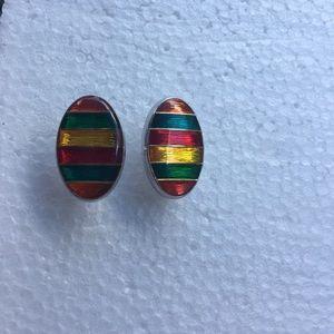 Jewelry - Cuff Links inOrange, green, yellow, red